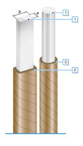 Провода обмоточные алюминиевые, изолированные лентами кабельной или телефонной бумаги.